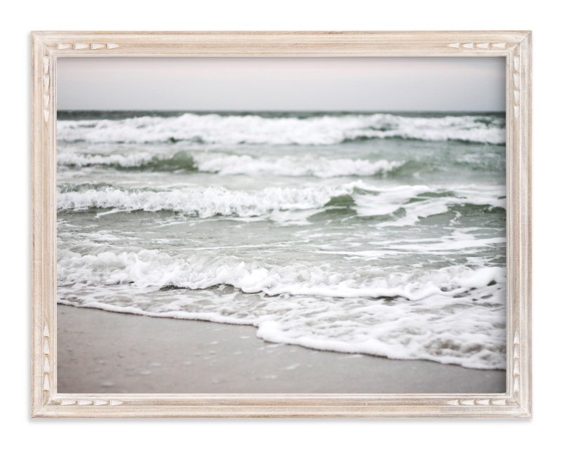 """""""Monochrome Shore"""" - Limited Edition Art Print by Eleanor Black in beautiful frame options and a variety of sizes."""