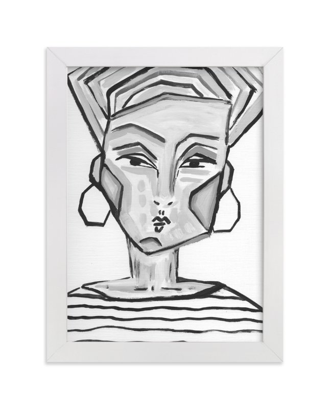 """""""Lady Gray"""" - Limited Edition Art Print by Juniper Briggs in beautiful frame options and a variety of sizes."""