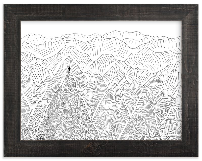 """Summit"" - Limited Edition Art Print by Helen H Wu in beautiful frame options and a variety of sizes."