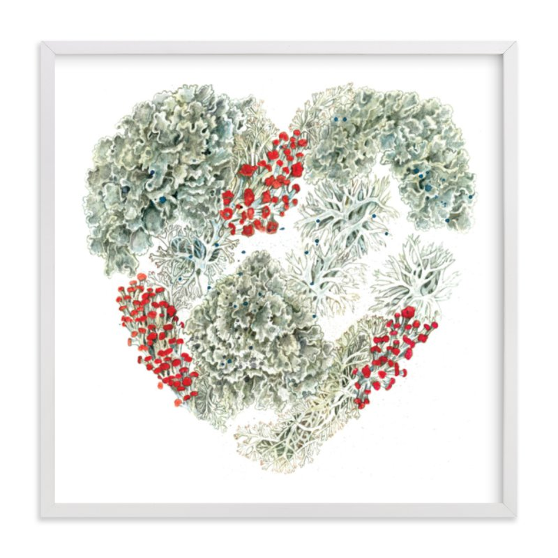 """Lichen Heart"" - Limited Edition Art Print by Eve Schultz in beautiful frame options and a variety of sizes."