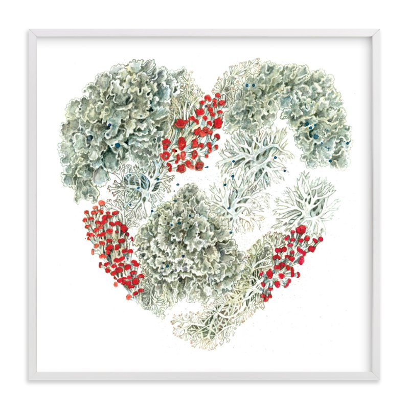 """""""Lichen Heart"""" - Limited Edition Art Print by Eve Schultz in beautiful frame options and a variety of sizes."""