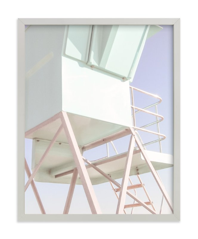 """Guard Chair, Santa Monica"" - Limited Edition Art Print by Jacquelyn Sloane Siklos in beautiful frame options and a variety of sizes."