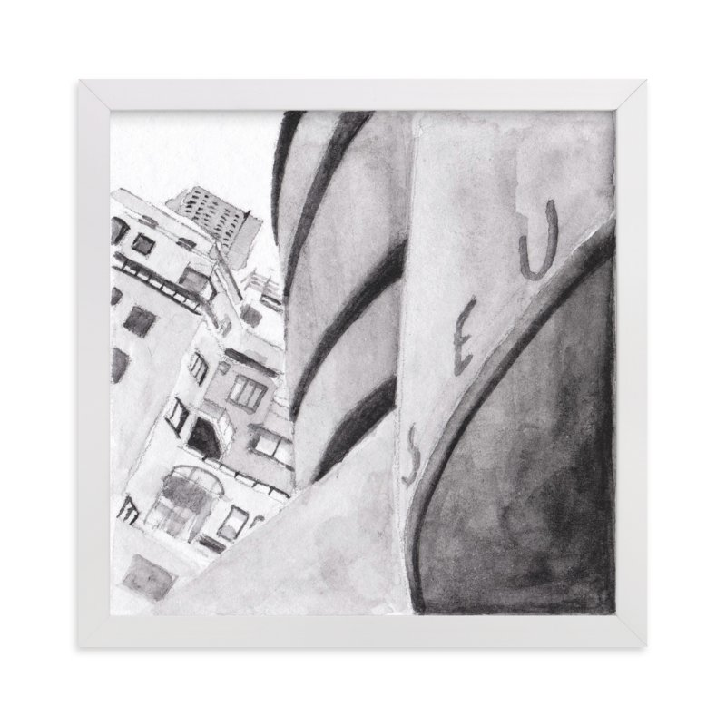 """""""Guggenheim Museum New York"""" - Limited Edition Art Print by Viktoria Eperjesi in beautiful frame options and a variety of sizes."""