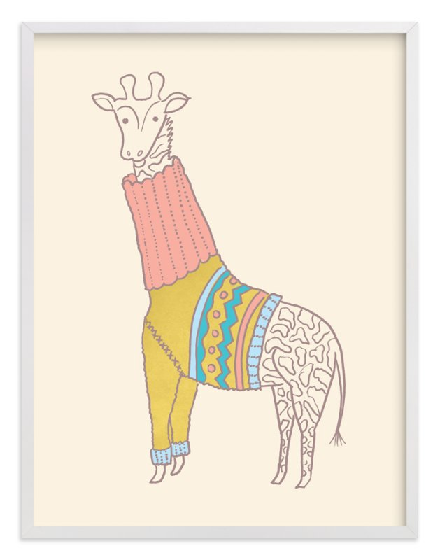 """""""Fiesta Turtleneck"""" - Limited Edition Art Print by Moglea in beautiful frame options and a variety of sizes."""