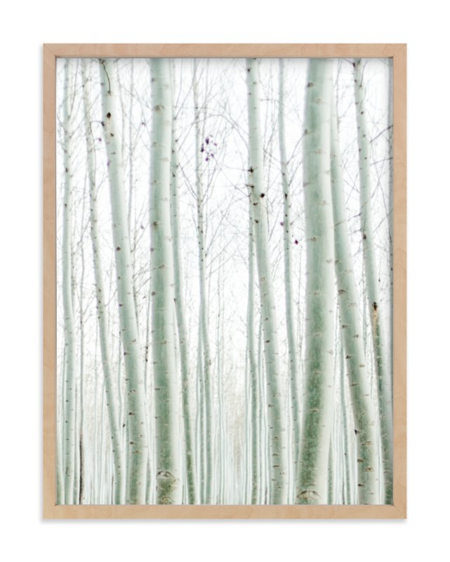 """Quiet Poplars"" - Limited Edition Art Print by Jenni Kupelian in beautiful frame options and a variety of sizes."