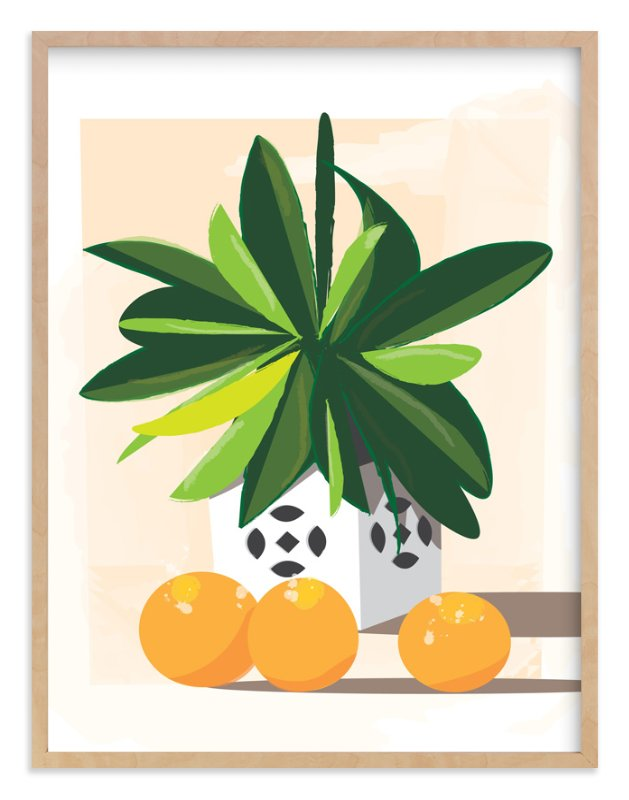 """""""Tropical Still Life"""" - Limited Edition Art Print by Lindsay Megahed in beautiful frame options and a variety of sizes."""