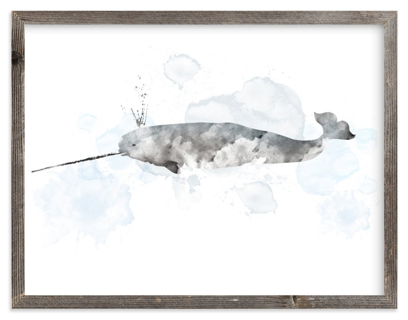 """""""Whale Series Two"""" - Limited Edition Art Print by Shirley Lin Schneider in beautiful frame options and a variety of sizes."""