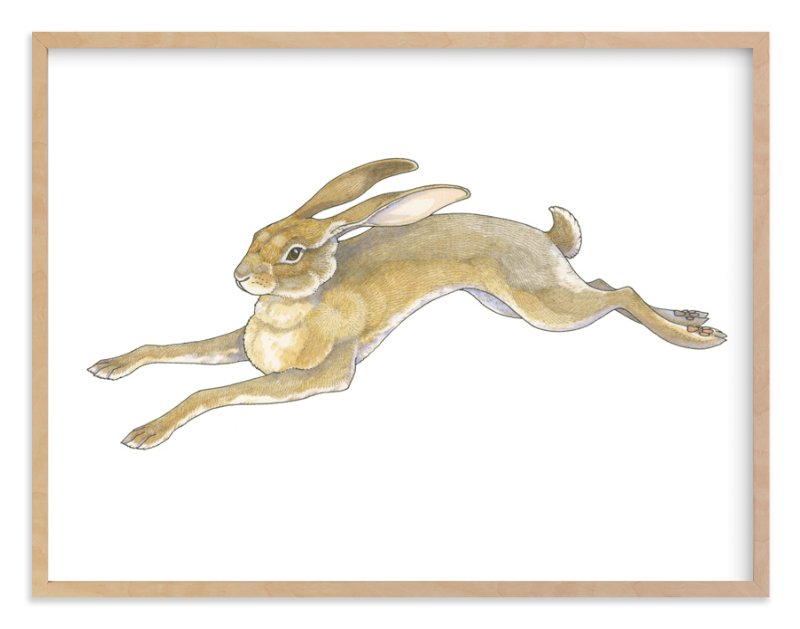 """Wild Hare"" - Limited Edition Art Print by Natalie Groves in beautiful frame options and a variety of sizes."