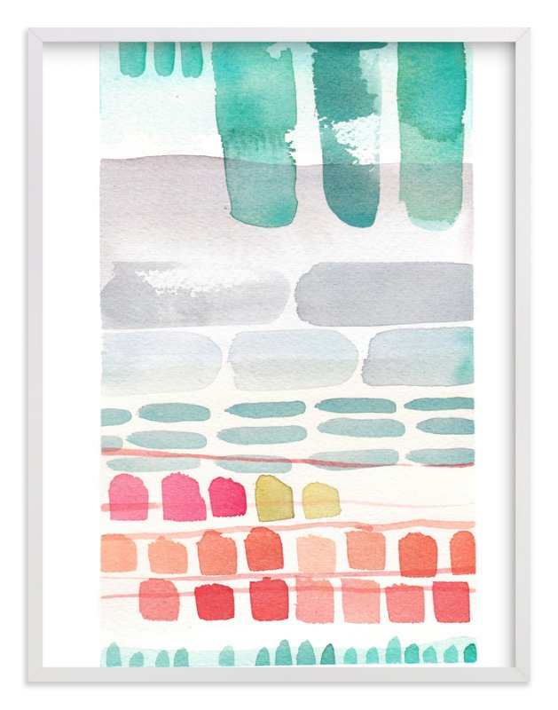 """""""Stacks"""" - Limited Edition Art Print by Kelly Ventura in beautiful frame options and a variety of sizes."""
