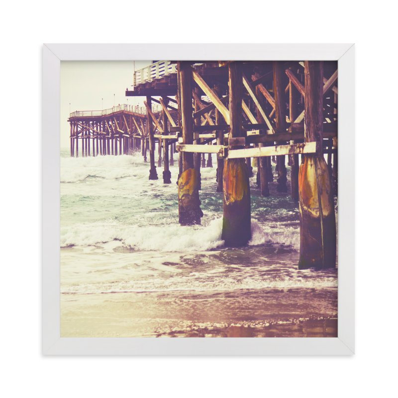 """Pier Perspective"" - Limited Edition Art Print by Misty Diller in beautiful frame options and a variety of sizes."