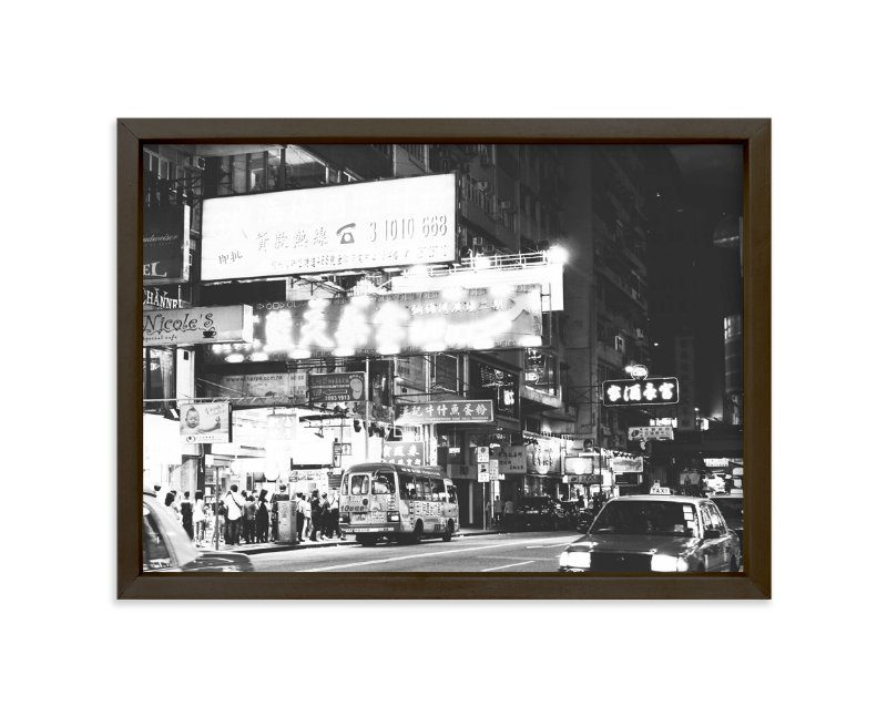 """City in Black and White"" - Limited Edition Art Print by Caitlin in beautiful frame options and a variety of sizes."