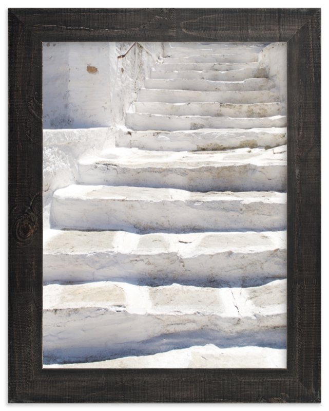 """""""White stairs"""" - Limited Edition Art Print by Marimba Morris in beautiful frame options and a variety of sizes."""