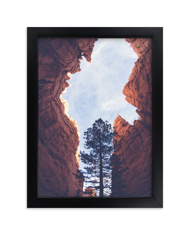 """Red Rock and Sky"" - Limited Edition Art Print by Melissa Walls in beautiful frame options and a variety of sizes."