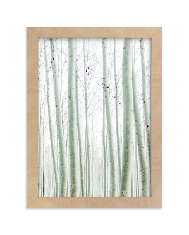 """""""Quiet Poplars"""" - Art Print by Jenni Kupelian in beautiful frame options and a variety of sizes."""