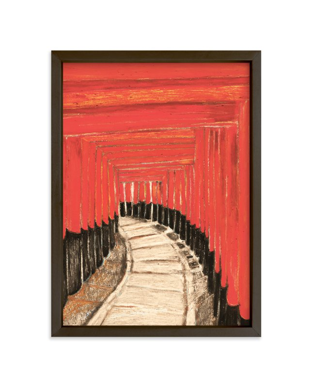 """""""Journey Through a Thousand Gates"""" - Limited Edition Art Print by Pooja Pittie in beautiful frame options and a variety of sizes."""