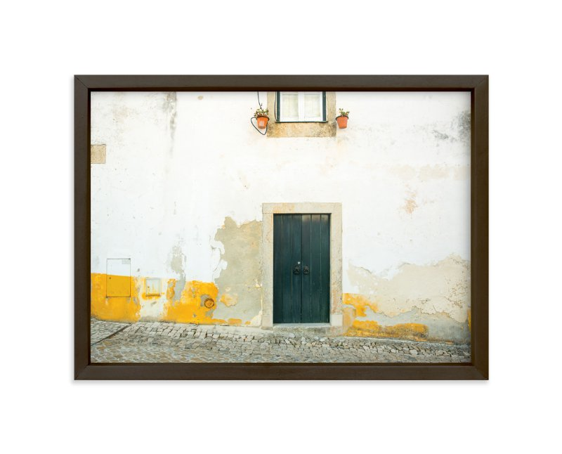 """Óbidos"" - Limited Edition Art Print by Heather Deffense in beautiful frame options and a variety of sizes."