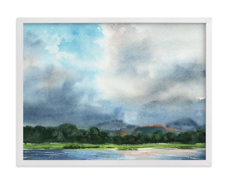 """Cloud Symphony Ring of Beara"" - Limited Edition Art Print by Eva Marion in beautiful frame options and a variety of sizes."