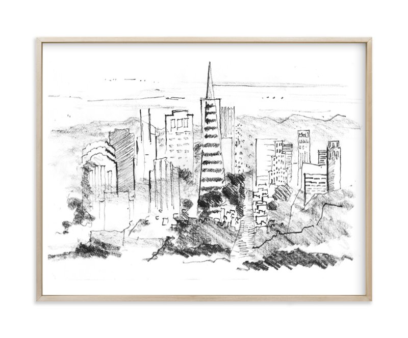"""""""Toposcape"""" - Limited Edition Art Print by van tsao in beautiful frame options and a variety of sizes."""