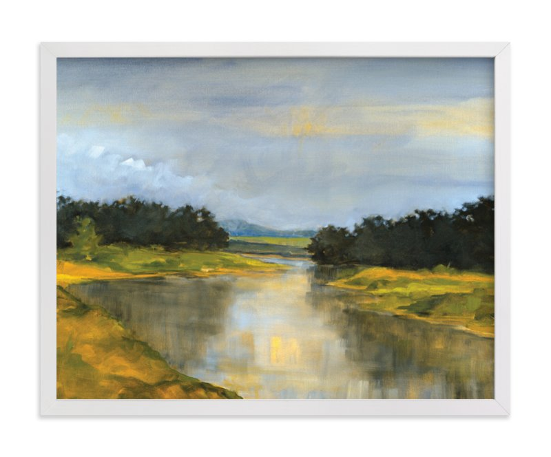 """""""Glass River"""" - Limited Edition Art Print by Stephanie Goos Johnson in beautiful frame options and a variety of sizes."""