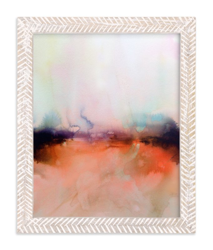 """""""Abstract Lands Series : Fields 4"""" - Limited Edition Art Print by Marta Spendowska in beautiful frame options and a variety of sizes."""