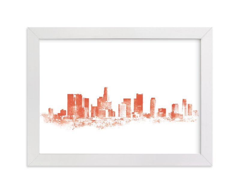 """LA Skyline"" - Limited Edition Art Print by Paul Berthelot in beautiful frame options and a variety of sizes."