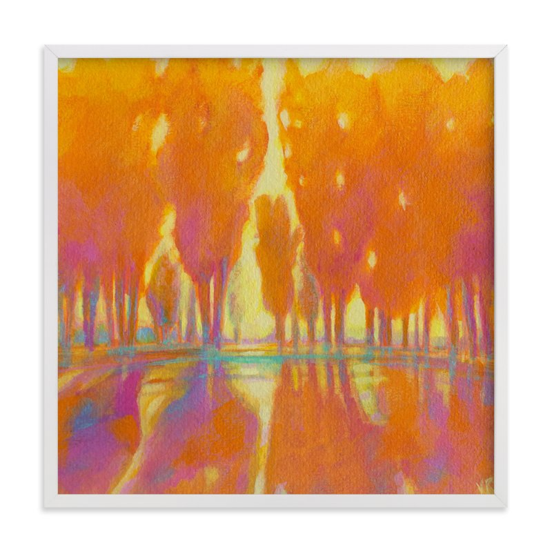 """Golden Hour"" - Limited Edition Art Print by Vicki Rawlins in beautiful frame options and a variety of sizes."