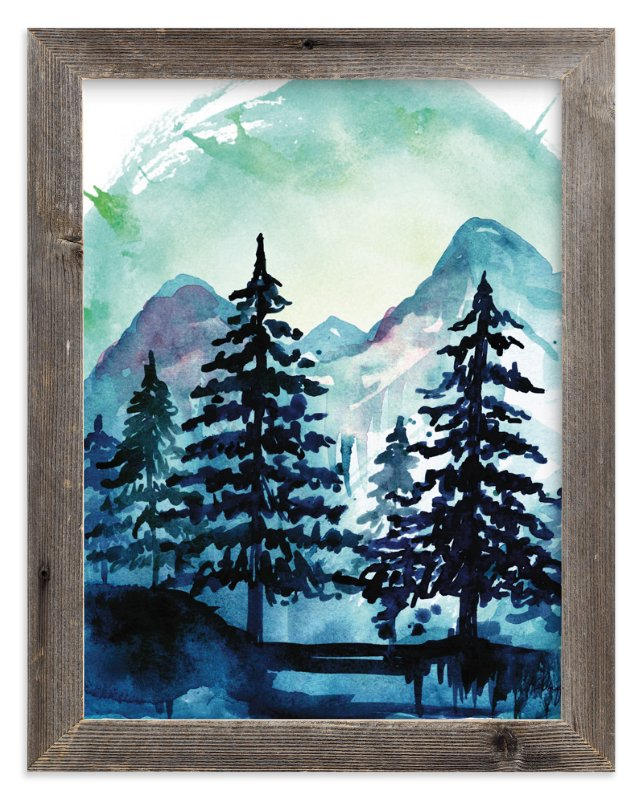 """""""Into the Woods"""" - Limited Edition Art Print by Kelsey McNatt in beautiful frame options and a variety of sizes."""