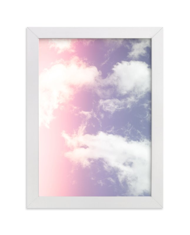 """""""Cotton Candy Clouds"""" - Limited Edition Art Print by Erin Beutel in beautiful frame options and a variety of sizes."""