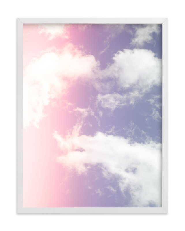 """Cotton Candy Clouds"" - Limited Edition Art Print by Erin Beutel in beautiful frame options and a variety of sizes."