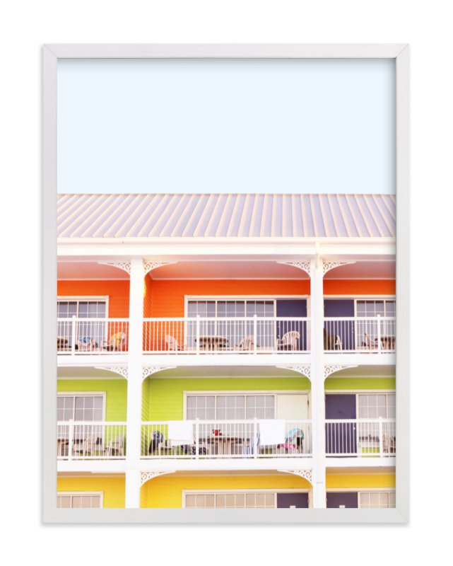 """""""colorful beach"""" - Limited Edition Art Print by Baumbirdy in beautiful frame options and a variety of sizes."""
