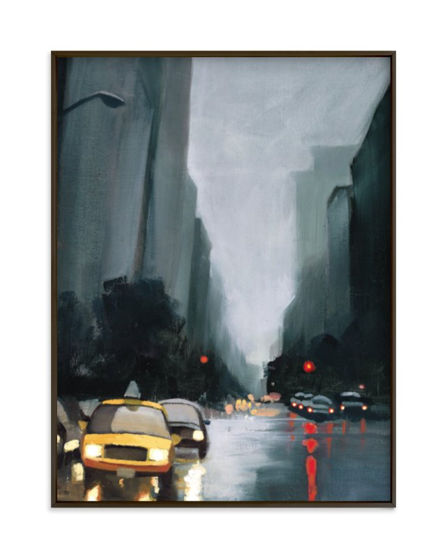 """taxi, taxi!"" - Art Print by Rachel Nelson in beautiful frame options and a variety of sizes."