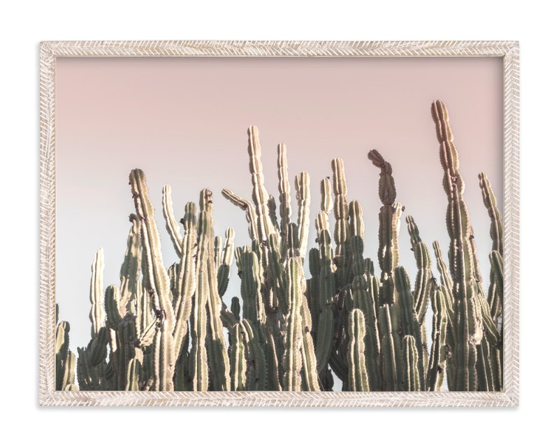 """Summer Cactus"" - Limited Edition Art Print by Wilder California in beautiful frame options and a variety of sizes."