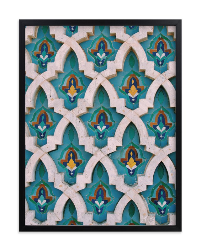 """""""King Hassan Tiles"""" - Limited Edition Art Print by AMK in beautiful frame options and a variety of sizes."""