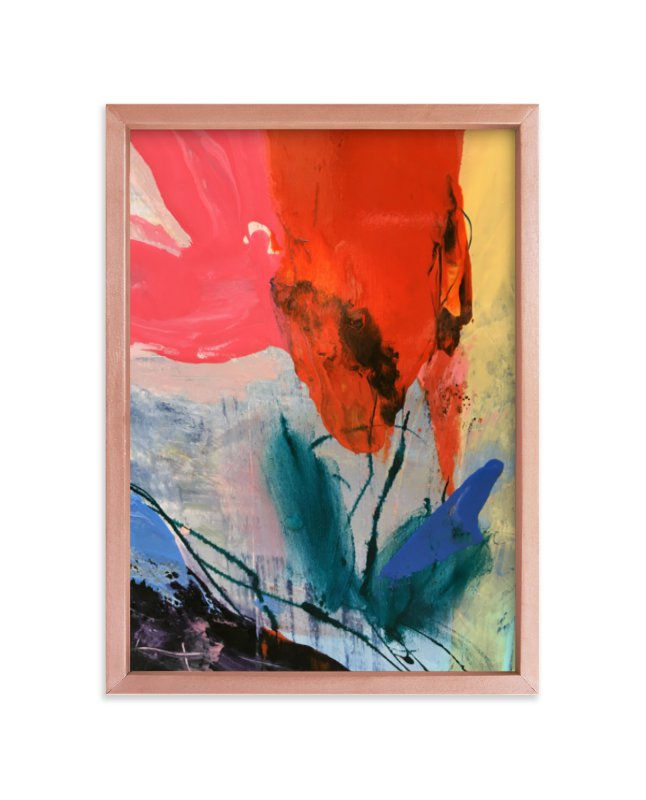 """""""Flower Water Vase"""" - Limited Edition Art Print by gloria blatt in beautiful frame options and a variety of sizes."""