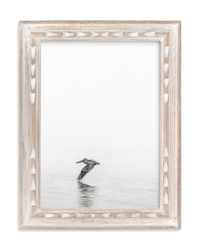 """Pelican on Lake"" - Limited Edition Art Print by Mary Ann Glynn-Tusa in beautiful frame options and a variety of sizes."