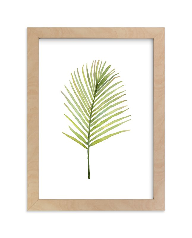 """I'm Frond of You No. 2"" - Limited Edition Art Print by Andi Pahl in beautiful frame options and a variety of sizes."