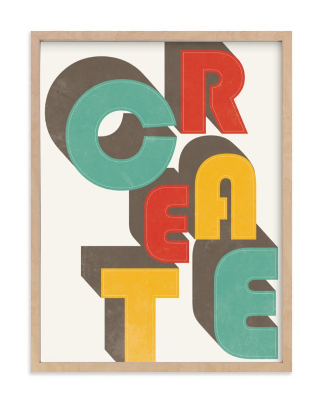 """CreAte"" - Limited Edition Art Print by Jennifer Morehead in beautiful frame options and a variety of sizes."