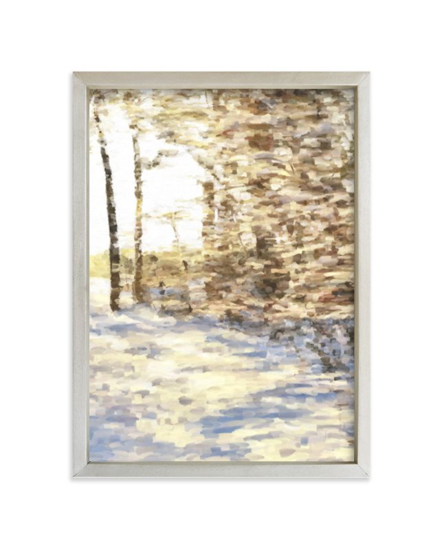 """""""Winter Walk"""" - Limited Edition Art Print by Amy Hall in beautiful frame options and a variety of sizes."""