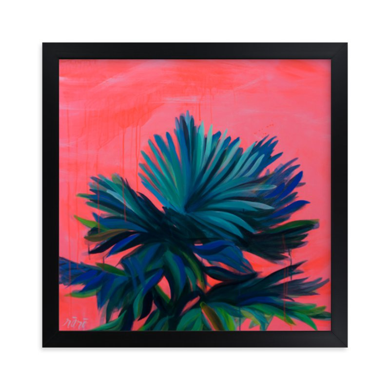 """""""Tropic Like It's Hot"""" - Limited Edition Art Print by Rachel Roe in beautiful frame options and a variety of sizes."""