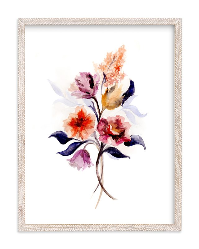 """""""Grecian Floral"""" - Limited Edition Art Print by Olivia Kanaley in beautiful frame options and a variety of sizes."""