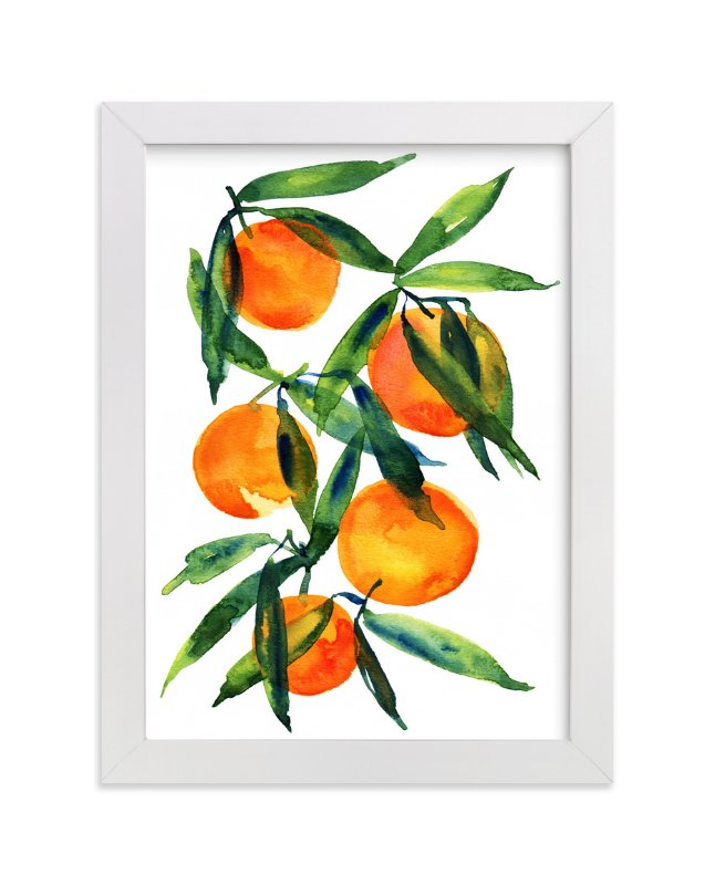 """Tangerine"" - Limited Edition Art Print by Alexandra Dzh in beautiful frame options and a variety of sizes."