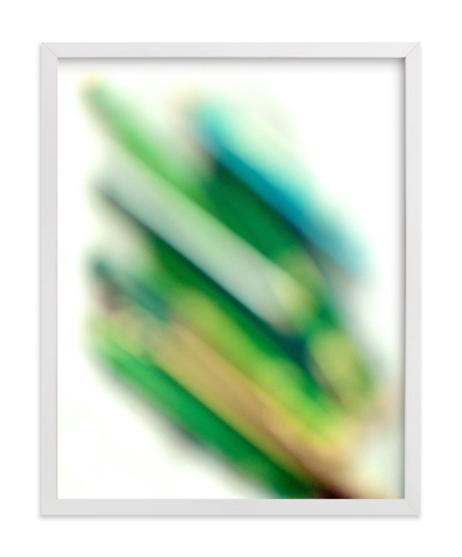 """virescent stack"" - Limited Edition Art Print by Naomi Ernest in beautiful frame options and a variety of sizes."