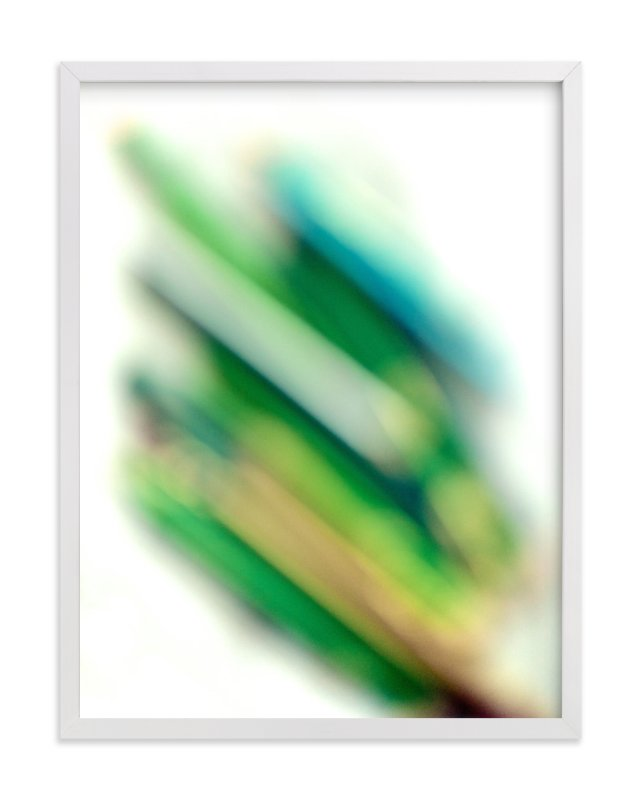 """""""virescent stack"""" - Limited Edition Art Print by Naomi Ernest in beautiful frame options and a variety of sizes."""