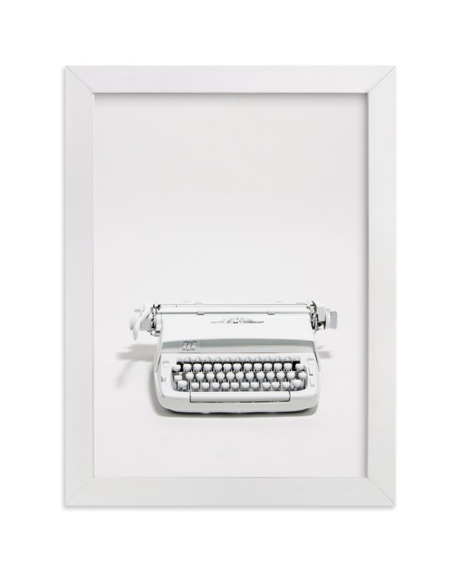 """The Typewriter"" - Limited Edition Art Print by Cristiane in beautiful frame options and a variety of sizes."