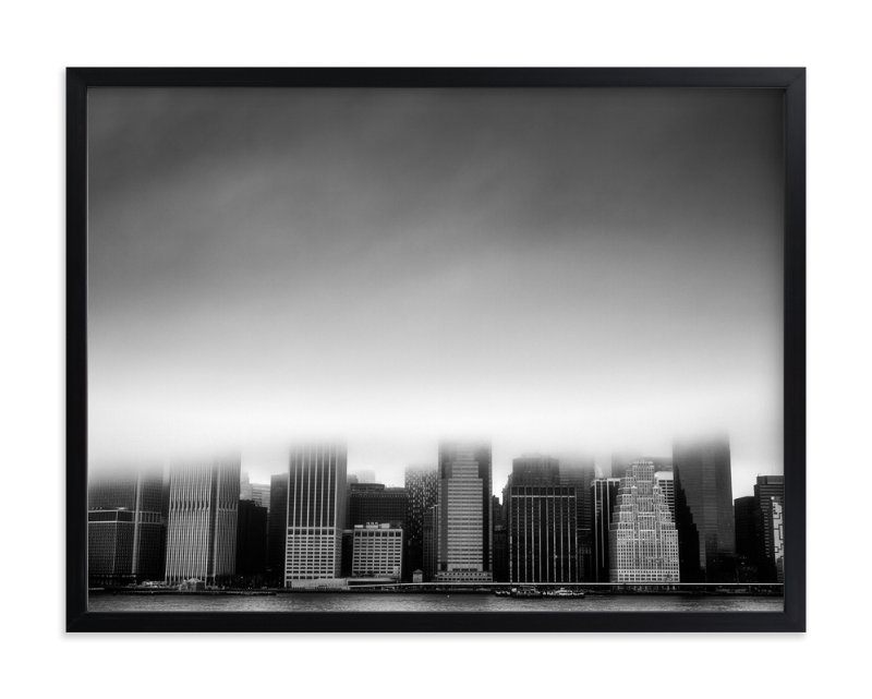 """""""Foggy City"""" - Limited Edition Art Print by Jason Derck in beautiful frame options and a variety of sizes."""
