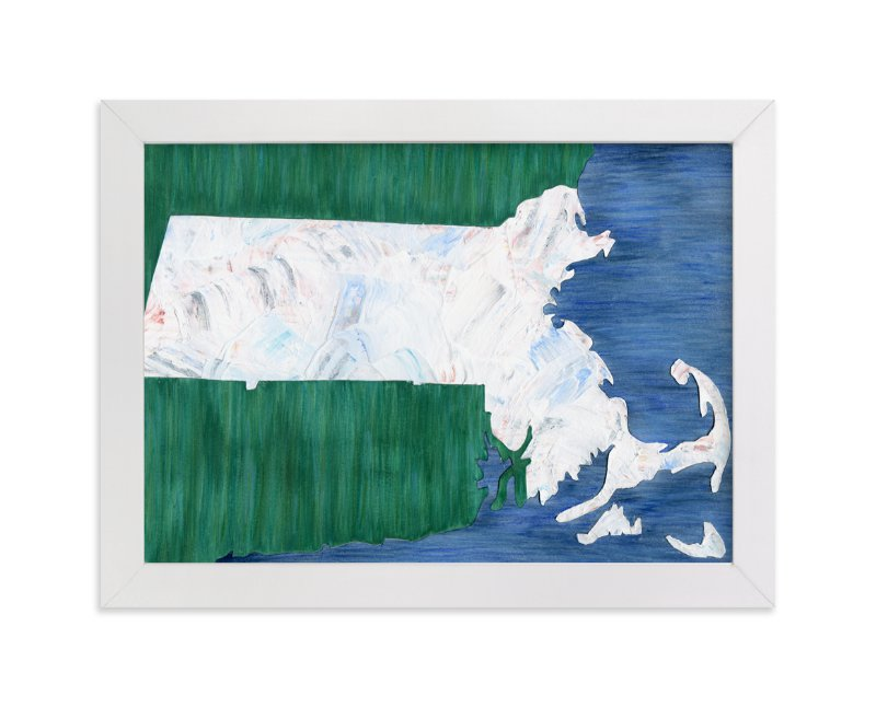 """""""Massachusetts in Paint"""" - Limited Edition Art Print by Denise Wong in beautiful frame options and a variety of sizes."""