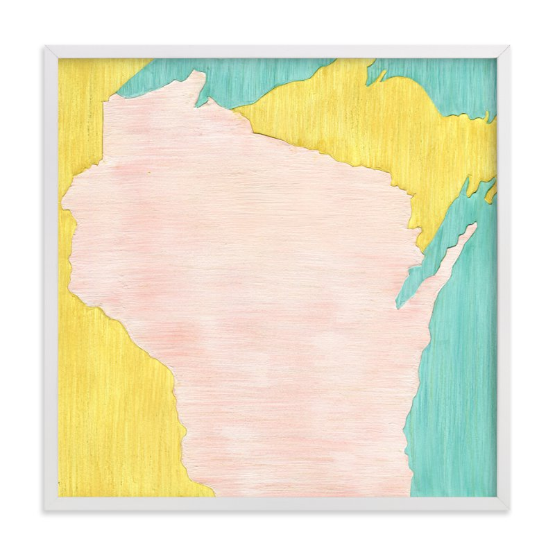 """Wisconsin in Paint"" - Limited Edition Art Print by Denise Wong in beautiful frame options and a variety of sizes."