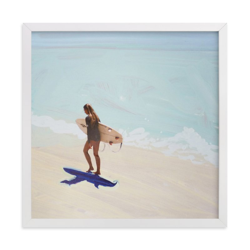 """""""Surfer Bae 1"""" - Limited Edition Art Print by Annie Seaton in beautiful frame options and a variety of sizes."""