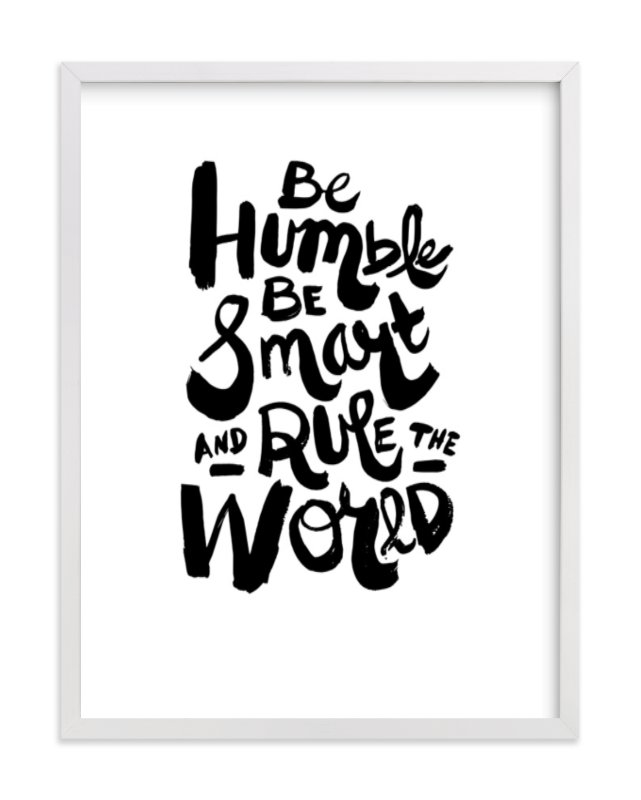 """""""Humble World"""" - Art Print by Heather Francisco in beautiful frame options and a variety of sizes."""