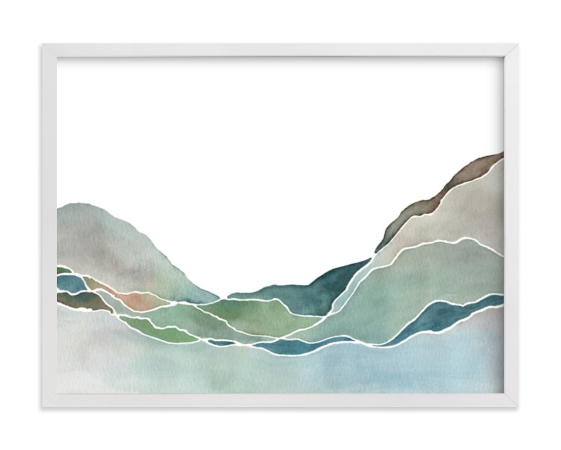 """""""Terrain No. 1"""" - Limited Edition Art Print by Jennifer Daily in beautiful frame options and a variety of sizes."""